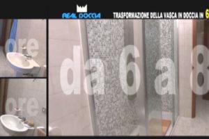 Vasca Da Bagno Box Doccia : Real doccia trasforma la tua vasca da bagno in box doccia pianeta tv